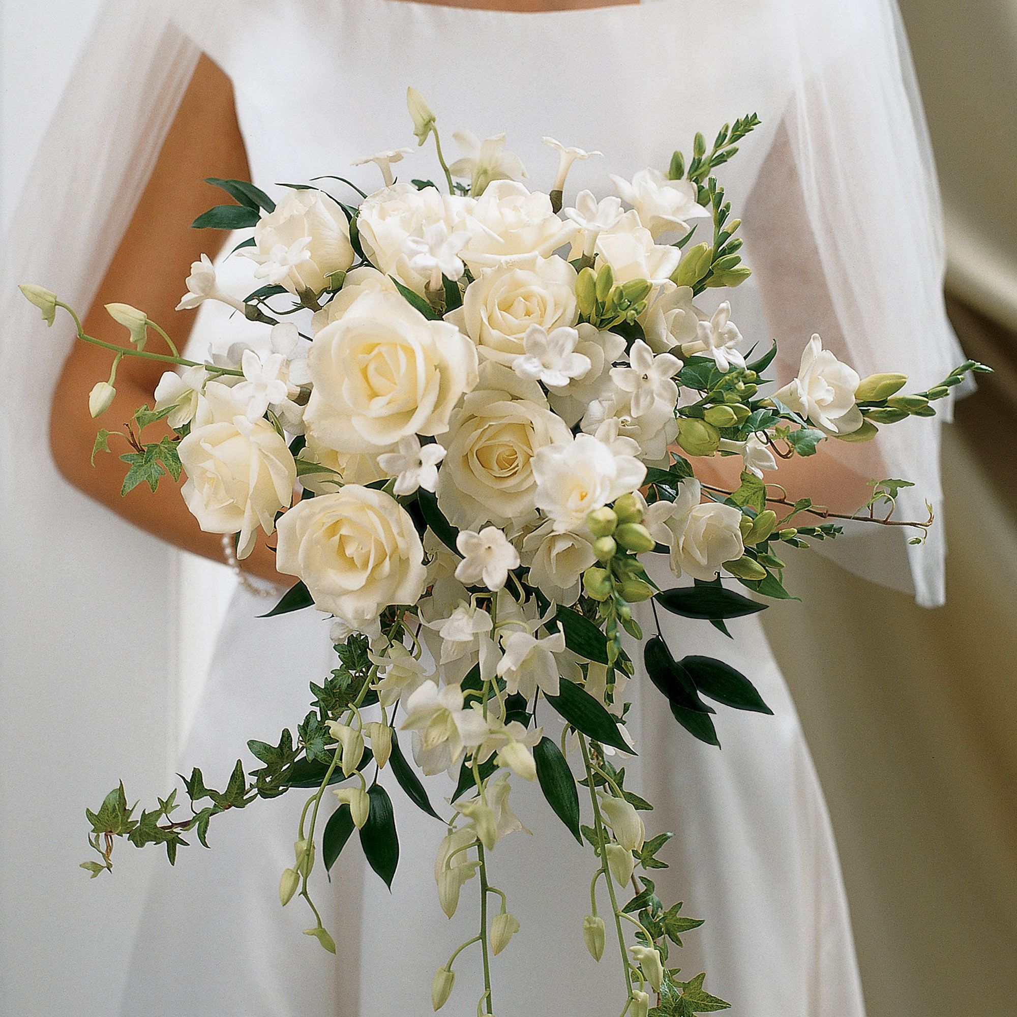 Ivory Rose Orchid Scented Bridal Bouquet