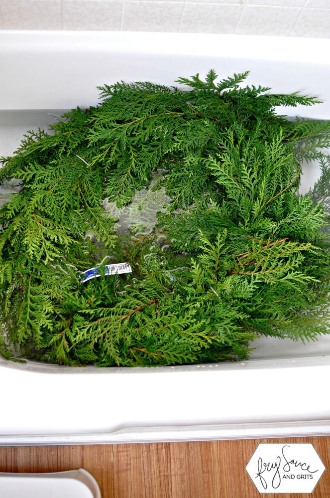 How To Prevent Holiday Fresh Greenery From Drying Out Fresh Greens Christmas Fresh Garlands Fresh Christmas Wreath