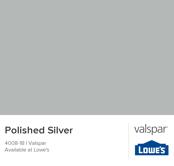 Kitchen + Downstairs Bath   Satin Polished Silver From Valspar