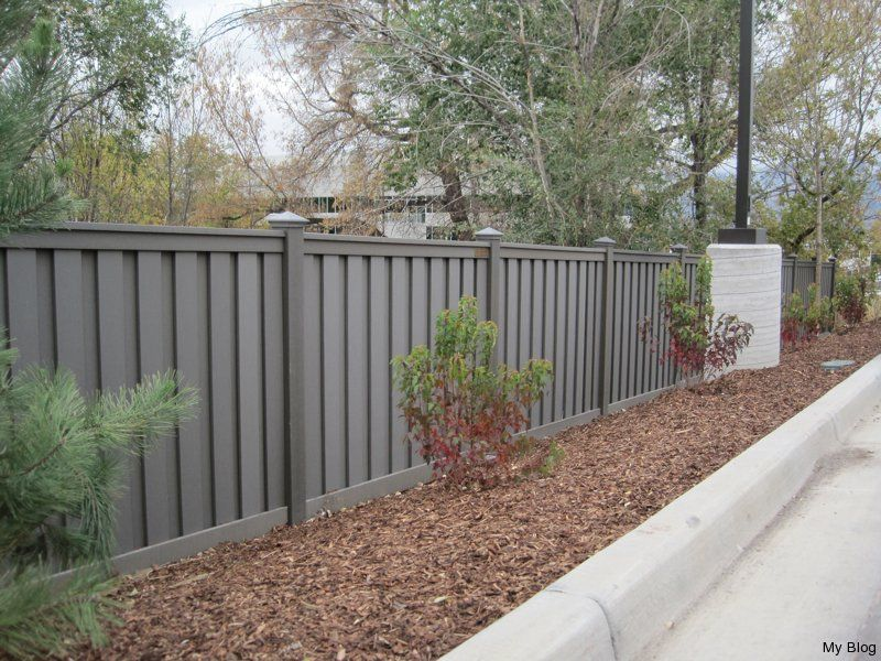 gray fence Grey Fence Backyard fences