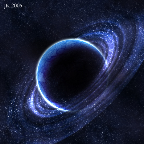 Blue Planet With Rings By Earzy88 On Deviantart Planet Ring Planets Celestial Bodies