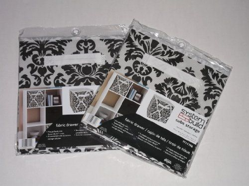 Good System Build Cube Storage Fabric Drawer Damask Pattern 2 Pack, Http://