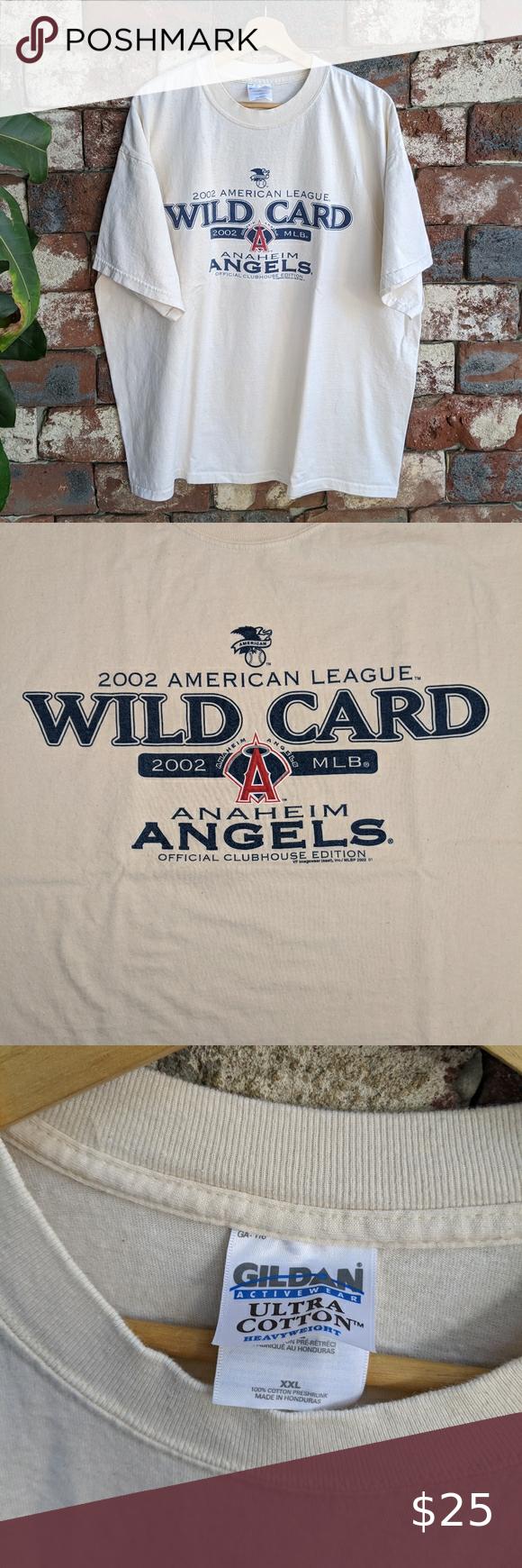 2002 Wild Card Anaheim Angels T Shirt In 2020 World Series Shirts Anaheim Angels Wild Card