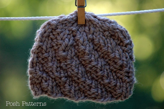 Knitting Pattern Hat Spiral Knit Hat Beanie Easy By Poshpatterns