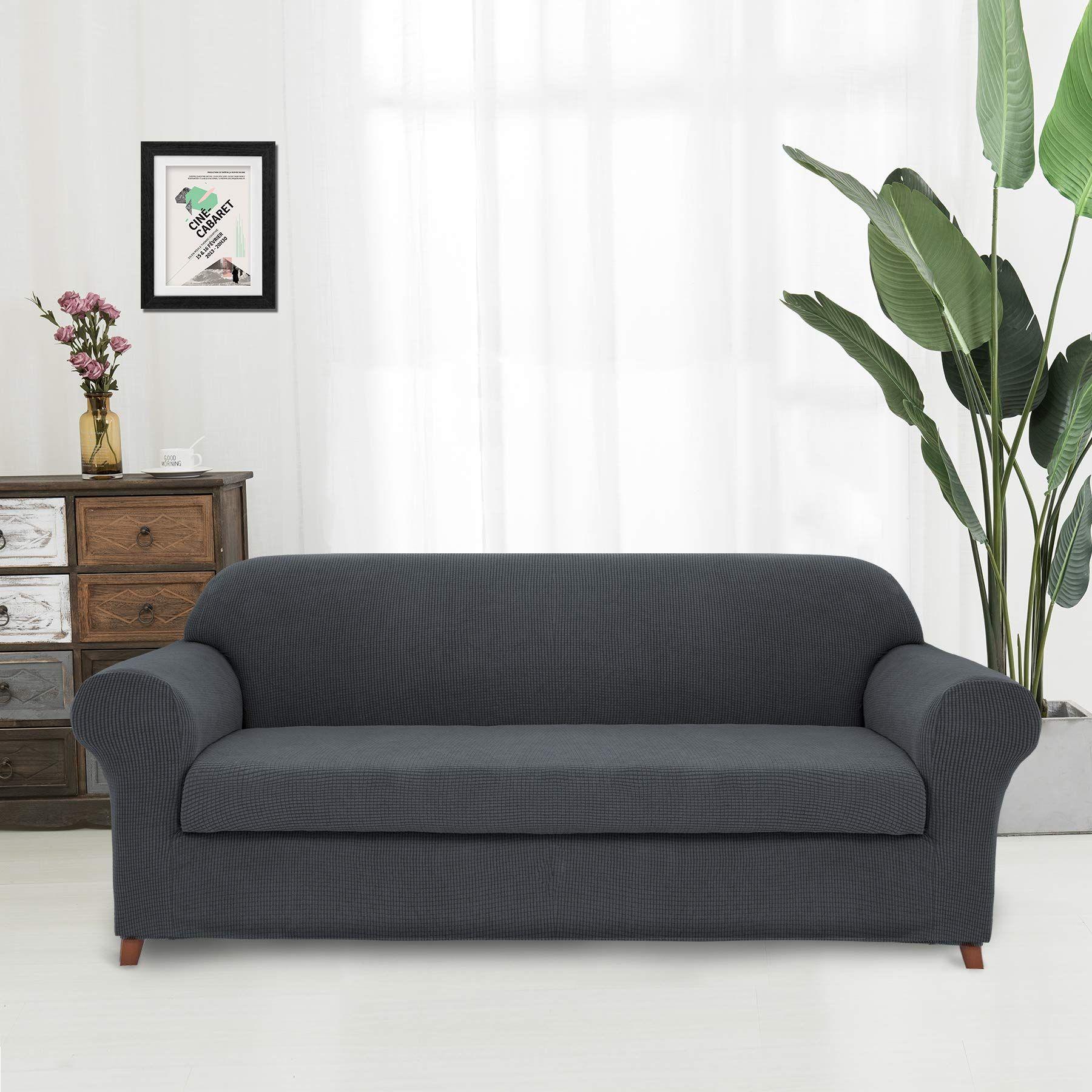 Hokway 2piece Stretch Sofa Slipcover Spandex Couch Cover Antislip