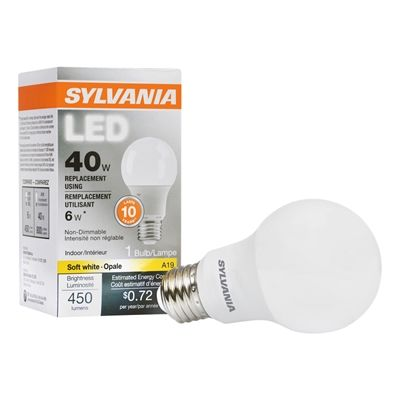 Sylvania Led 6 Watt 2700 Kelvins A19 Medium Base E 26 Soft White Indoor Led Bulb Led Light Bulb Dimmable Led Lights Led Lights