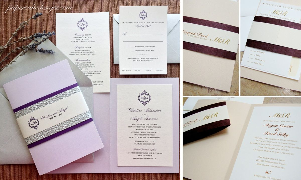custom wedding invitation suite a 5x7 booklet opens