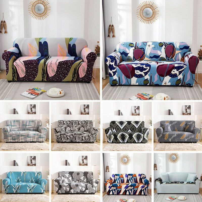 Washable Stretch Elastic Fabric Sofa Cover Couch Covers Pet Slipcover 1 4 Seater Sofa Slipcover In 2020 Slipcovered Sofa Couch Covers Slipcovers Ektorp Sofa Cover