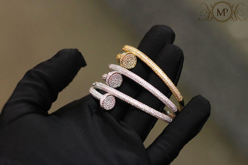 06389ea8bf0 Merci Prière custom diamond nail bangle - Merci Prière (Diamond nail  bracelet