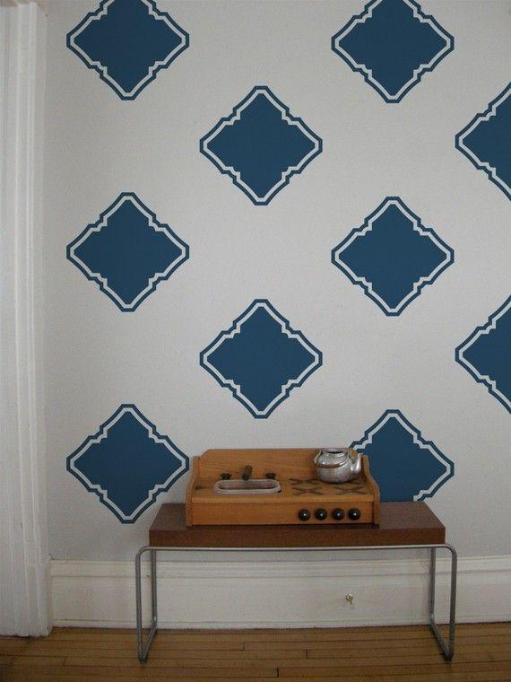 vinyle wall decal mod squares 24 graphiques papier peint stickers l ment moderne. Black Bedroom Furniture Sets. Home Design Ideas
