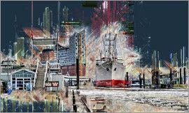 Peter Roder Hamburg Elbphilharmonie Und Museumsschiff Cap San Diego Hamburg Poster Poster Kaufen Cap San Diego