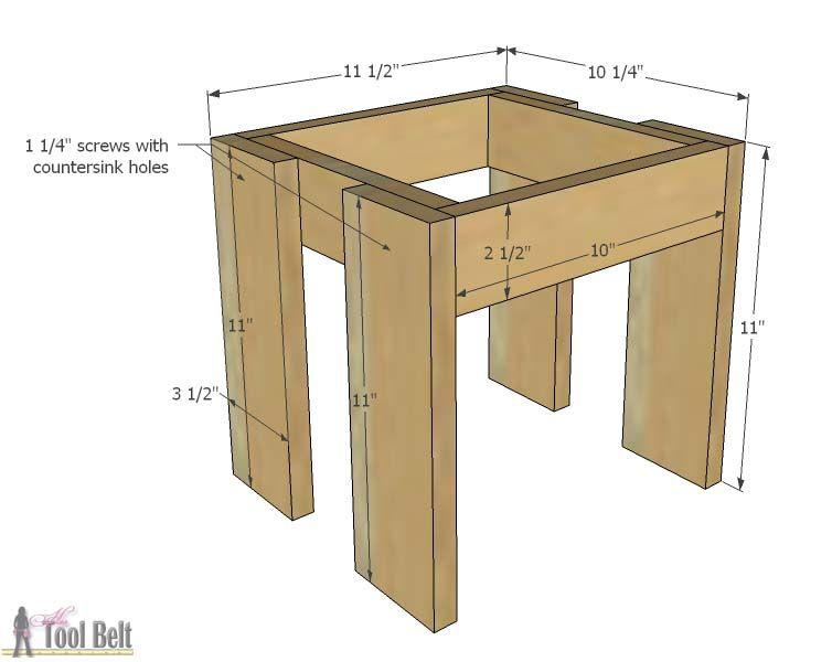 19ae7a2bb3f4 Build an easy table and chair set for the little kids. The set costs about   35 to build. Free plans!