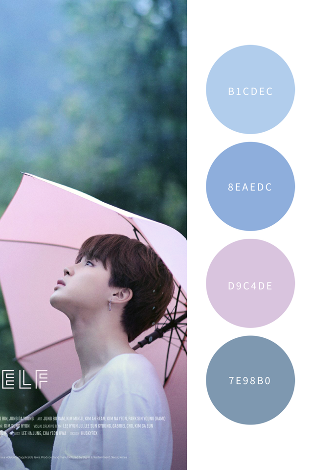 Colors For Boys Bedroom Love Yourself Color Palette | The Boys Of Bangtan♥️ In