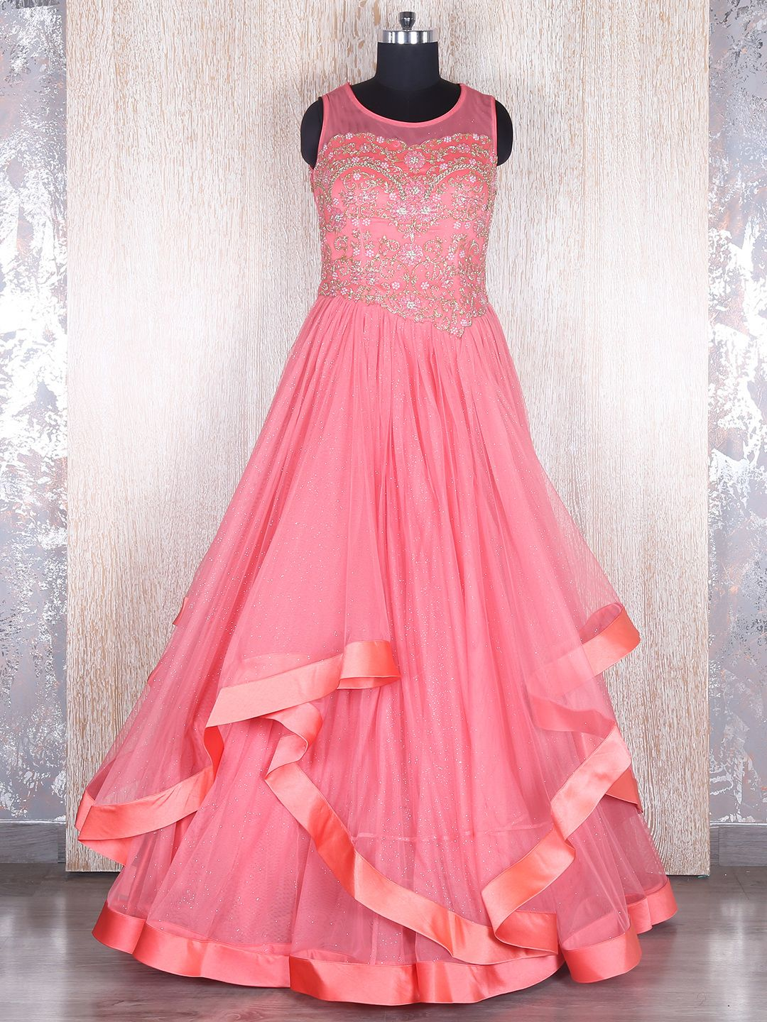 Pink Designer Net Gown | zoya | Pinterest | Gowns, Designers and ...