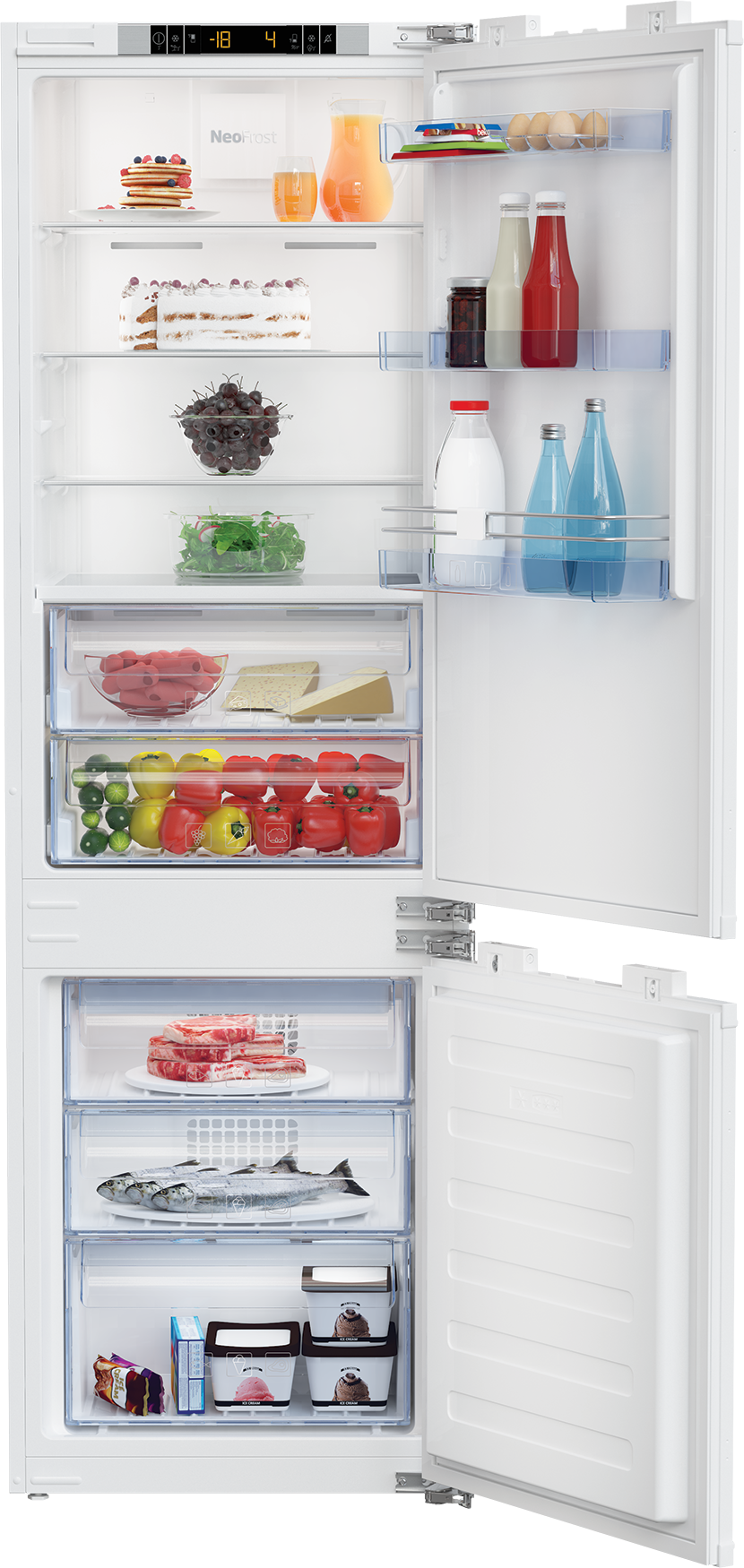 Beko 22 Inch 22 Built In Bottom Freezer Refrigerator Panel Ready Bbbf2410 In 2020 Refrigerator Panels Bottom Freezer Refrigerator Cantilever Shelf