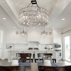 Adeline Crystal Chandelier Crystal Chandelier Entryway