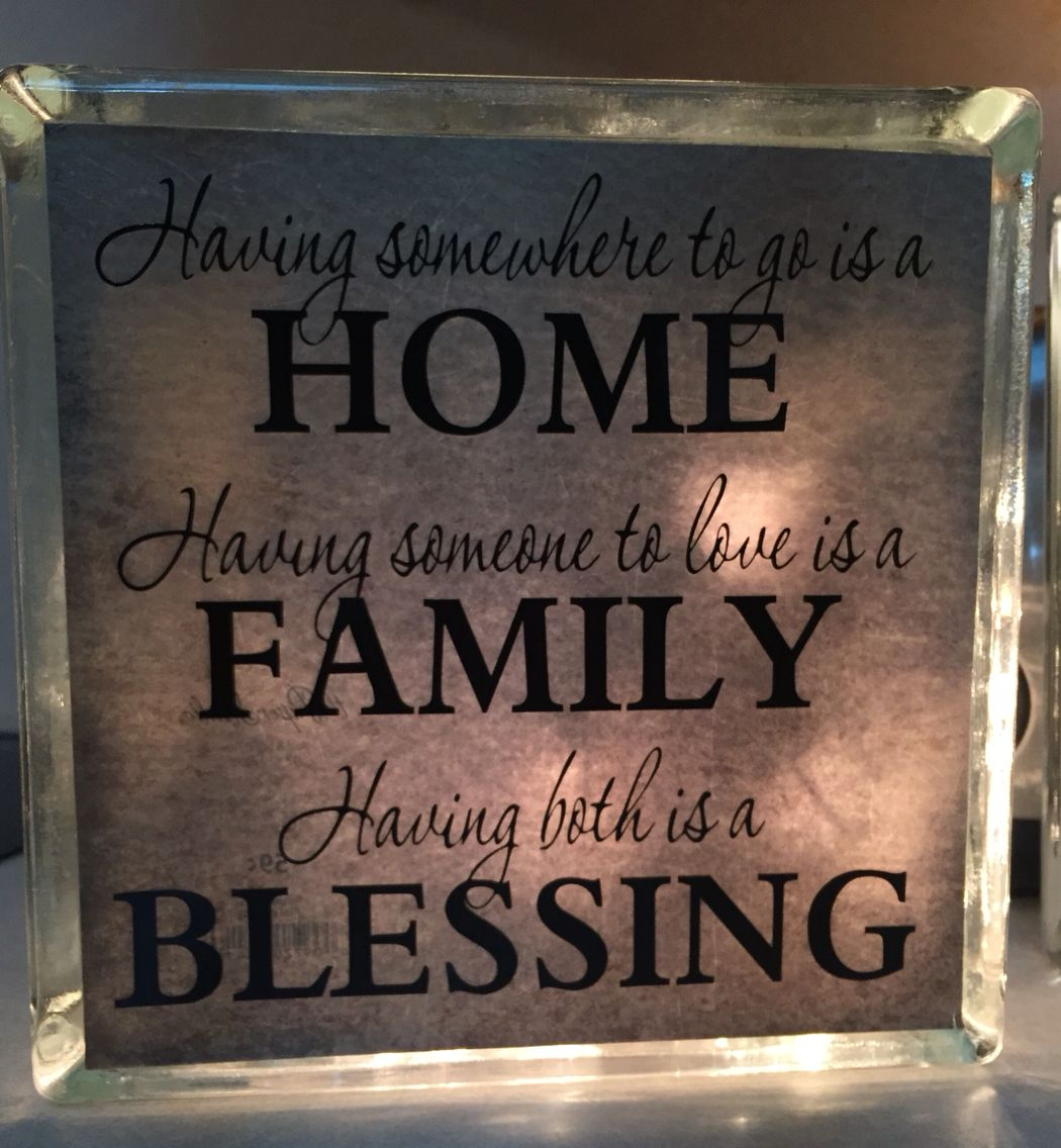 8 x 8 Glass Block with Quote