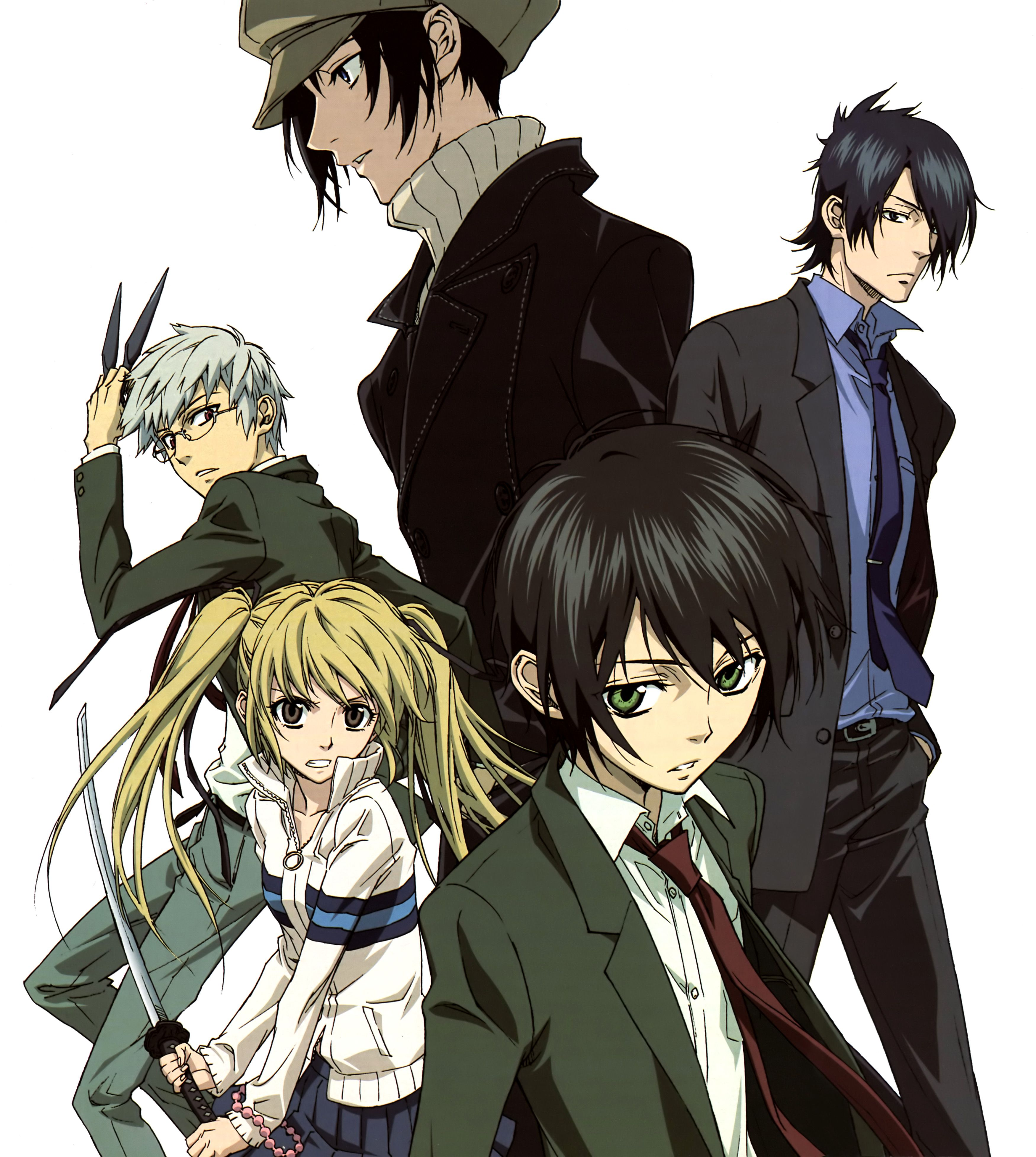 Nabari no Ou Main characters Miharu Rokukou, Raimei