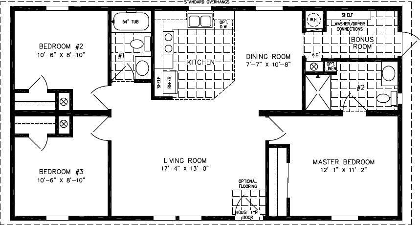 Floorplans For Manufactured Homes 1000 To 1199 Square Feet Mobile Home Floor Plans Manufactured Homes Floor Plans Square House Plans