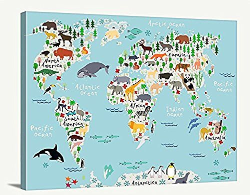 Tanda world map art animal world map for kids room nurser https tanda world map art animal world map for kids room nurser https gumiabroncs Gallery