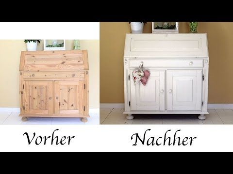 shabby chic tutorial alte m bel kommode aus eiche mit kreidefarbe chalk paint streichen i how. Black Bedroom Furniture Sets. Home Design Ideas