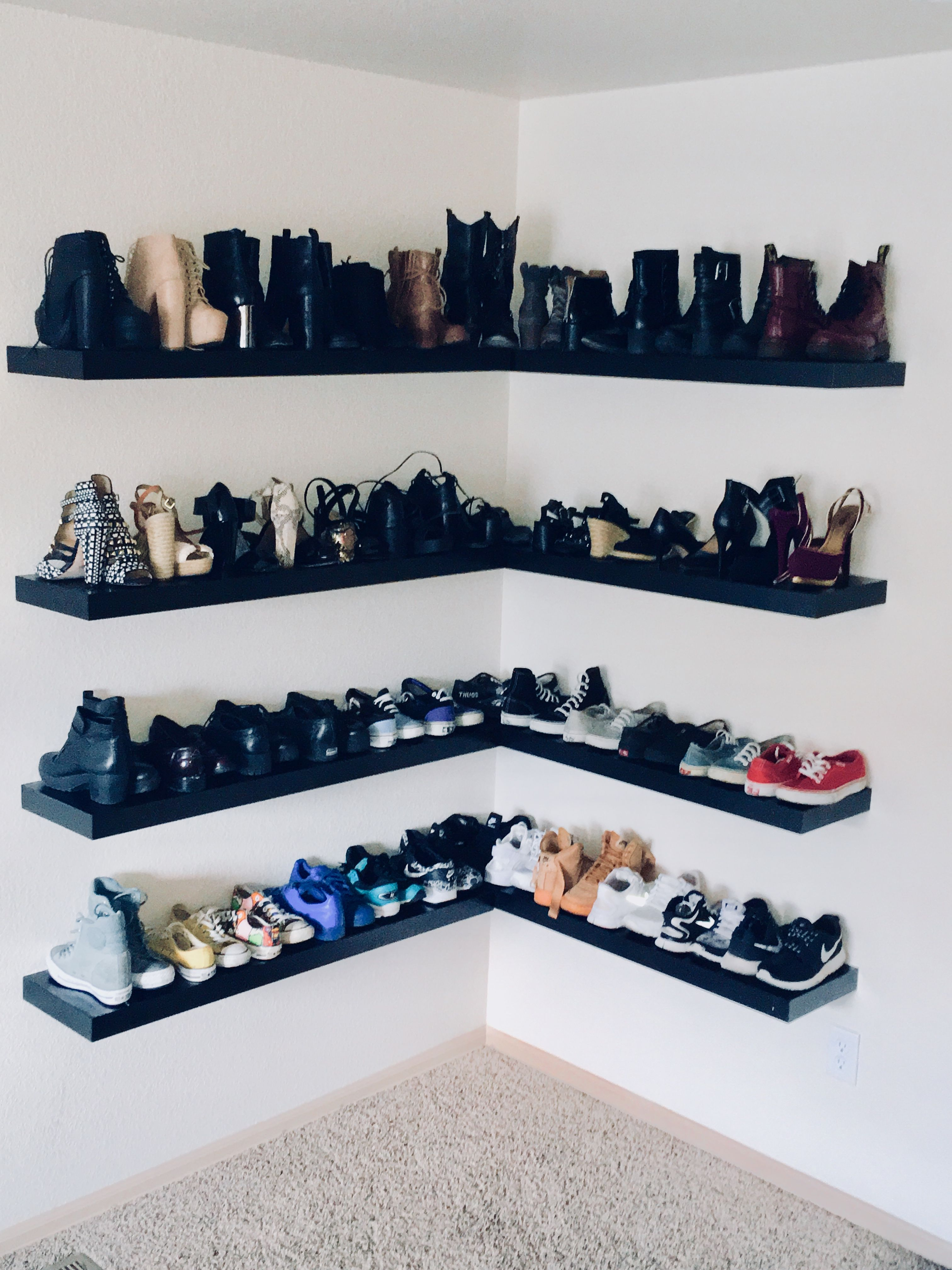 Ikea Lack Floating Shoe Shelves Shoe Shelves Shoe Shelf Ikea