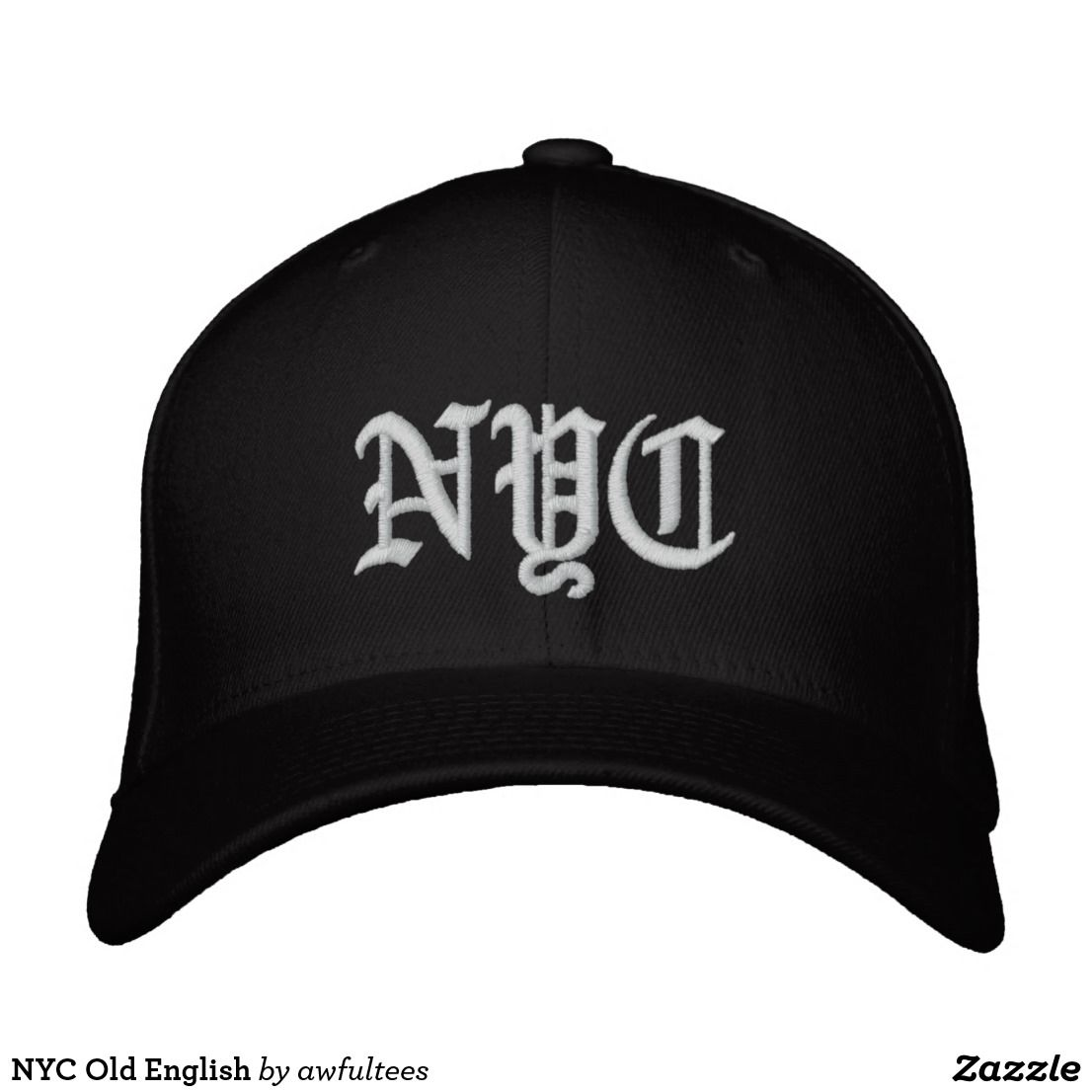 86ce654a122 NYC Old English Embroidered Baseball Cap