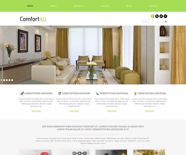 Great 15 Free Interior Design And Furniture Website Templates