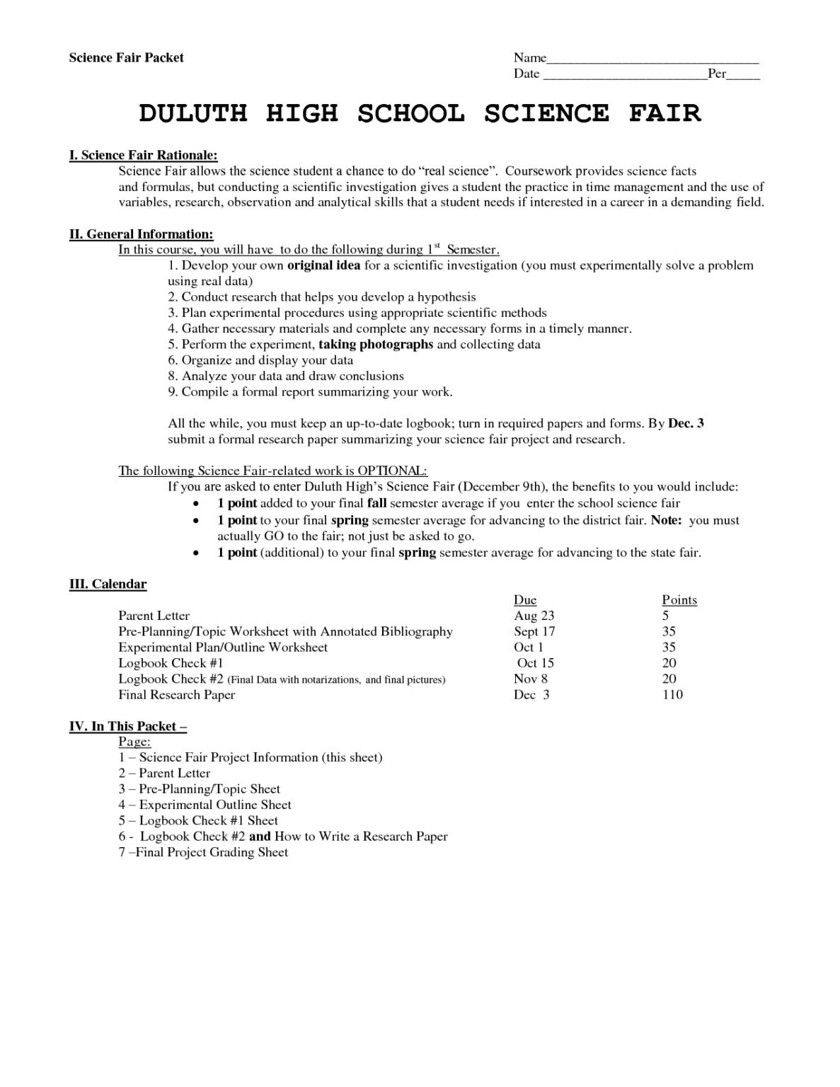 Science Ir Report Example Written Formatting Reports Regarding Ir Report Template High School Science Fair Science Facts Science Student