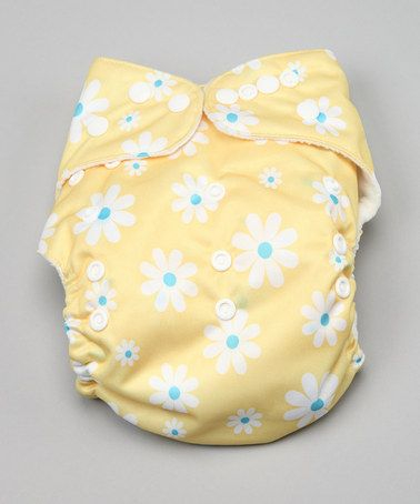 Awesome Blossom One Size Happy Yellow Flowers Pocket Cloth Diaper on #zulily!