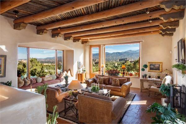 Southwest Style Pueblo Desert Adobe Home Southwest House Adobe