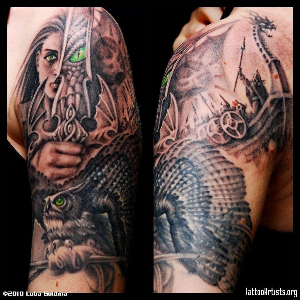 War Woman Tat Warrior tattoos, Celtic sleeve tattoos