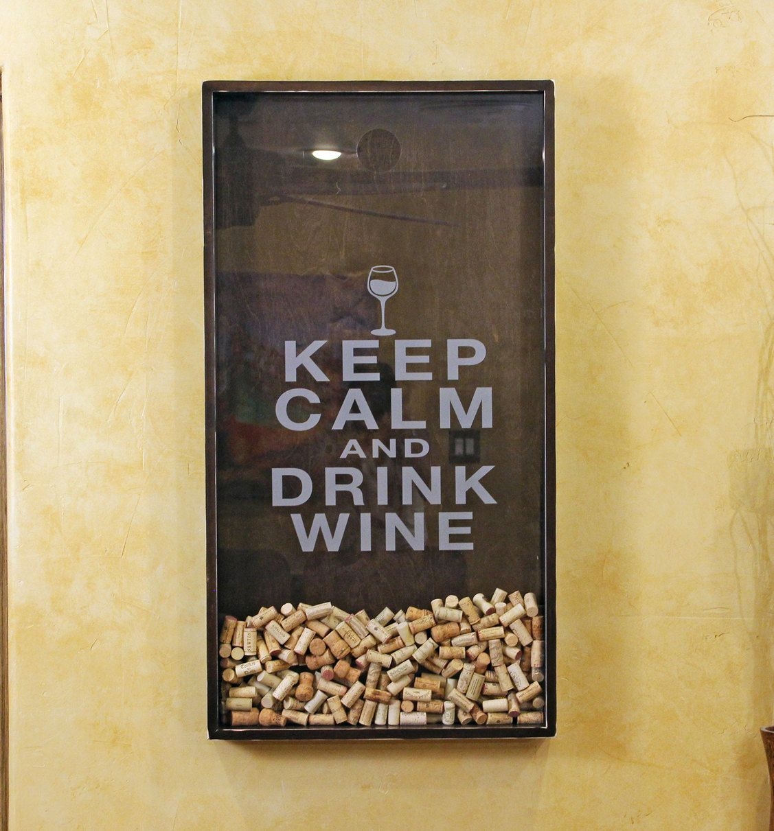 I will make this. 25x45 Wine Cork Holder Wall Decor Art Keep by ...
