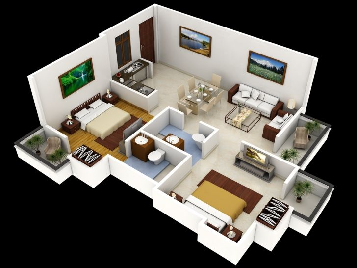10 images about Floor Plans on PinterestSmall house design. Small house 2 bedroom floor plans