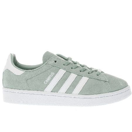 #Adidas light green campus unisex junior #Take a classic adidas profile,  blend it with contemporary style and downsized it for kids and you get a l…