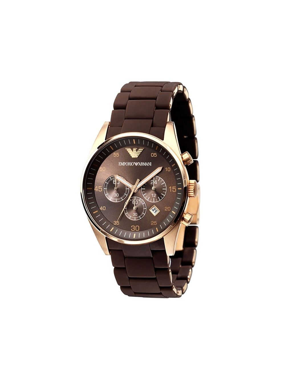 22ff997eeba0 Emporio Armani Men s Brown Rose Gold Chronograph Watch AR5890 in ...