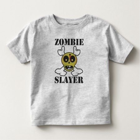 Zombie Slayer Kids Toddler T-shirt - click/tap to personalize and buy