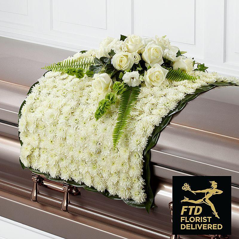 The FTD® Blanket of Flowers Casket flowers, Funeral