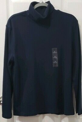 Basic Editions Women Plain High Neck Top T-Shirt Stretch Blouse NavyBlue Size XL #fashion #clothing #shoes #accessories #women #womensclothing (ebay link)