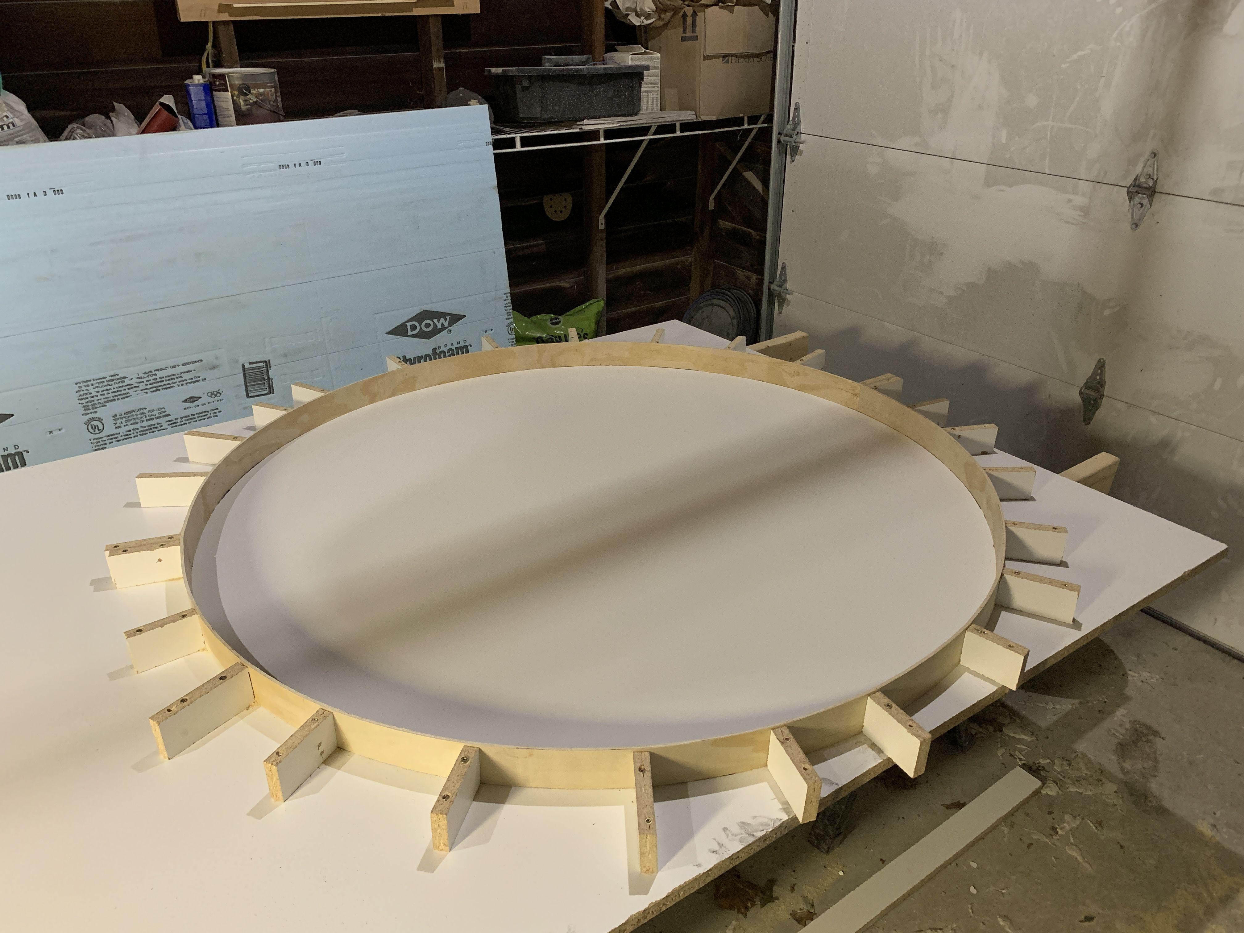 Concrete Round Table Mold In 2020 Concrete Countertops Molding