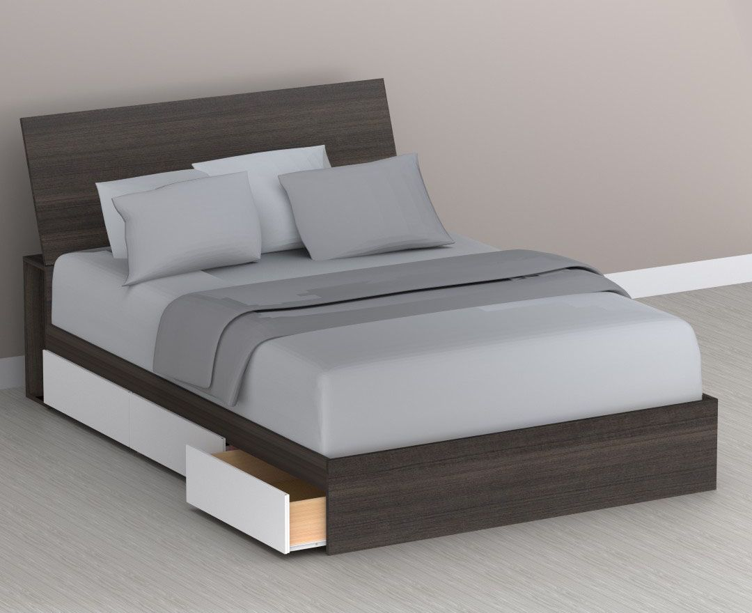 Modern storage area - This Allure Queen Size Storage Bed Is Designed With Practicality In Mind Its Storage Area Means You Can Easily Have An Organized Bedroom Without Needing To