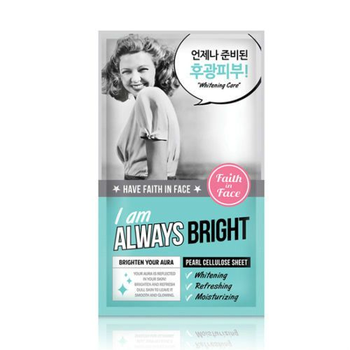 [Faith In Face] I AM ALWAYS BRIGHT;Pearl Cellulose Sheet Mask 25g x 1ea #FaithInFace