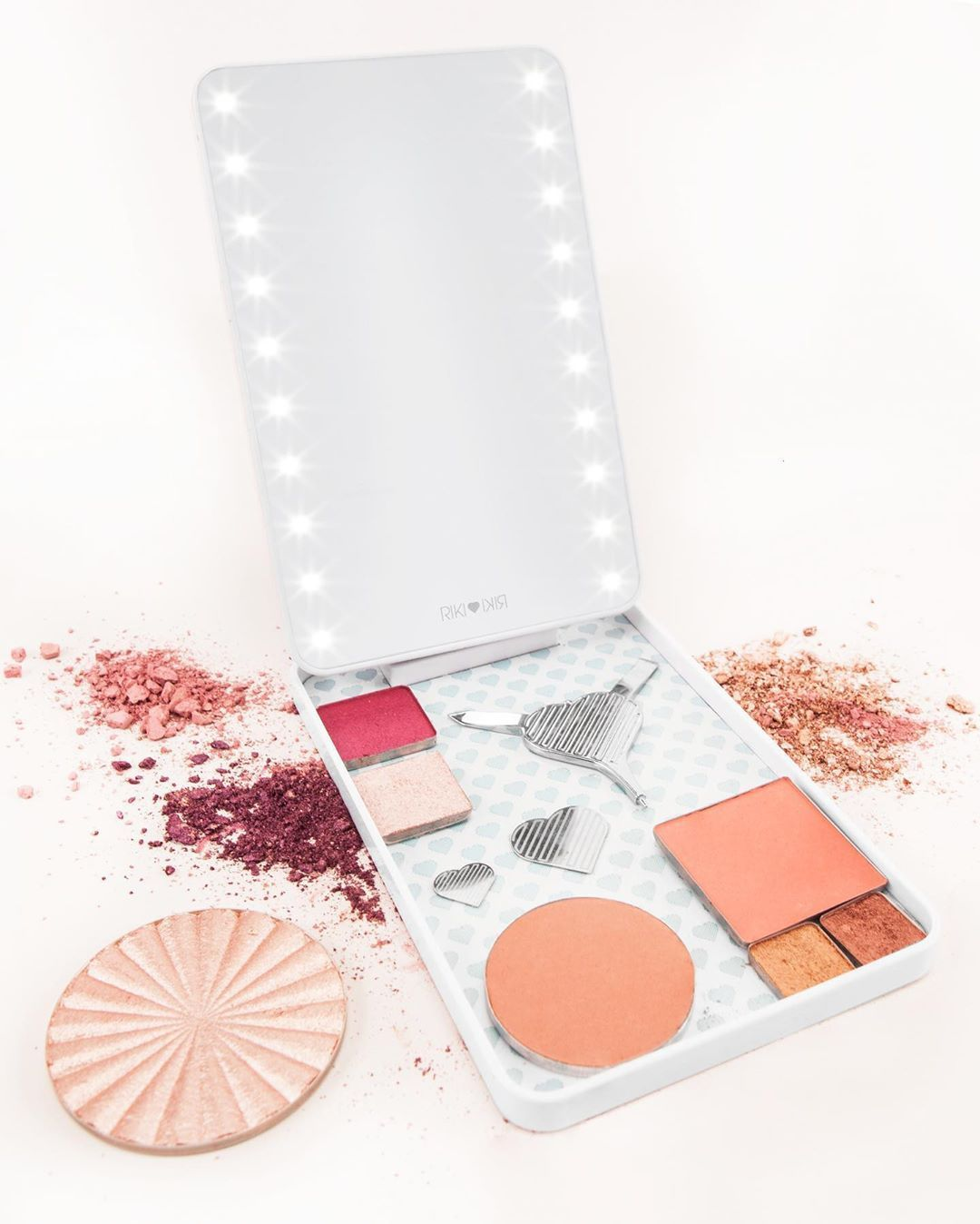 Riki colorful makeup palette, Makeup mirror
