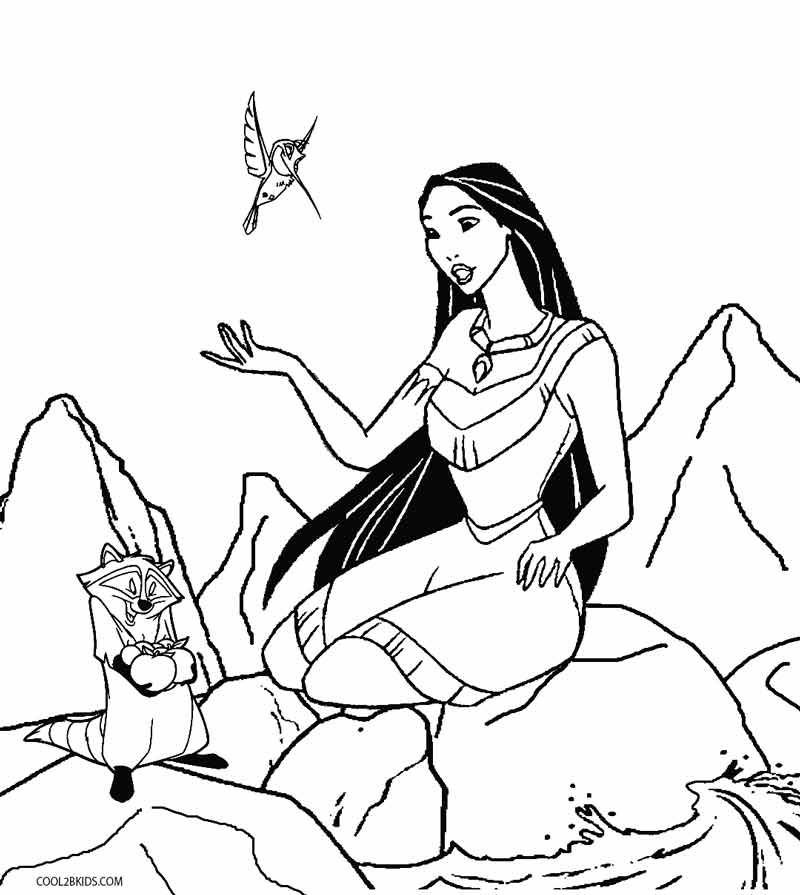 Printable Pocahontas Coloring Pages For Kids Cool2bkids