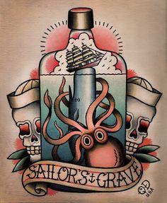 Traditional Tattoo Flash T As Tout Vus Tattoos Octopus Tattoos