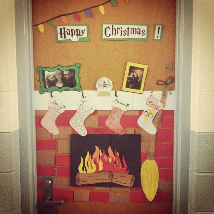 awesome dorm room christmas decorations and i love the hp