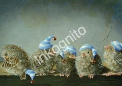 Inkognito Kog17818 Ansichtkaart Suzan Visser Vogel Kunst Grillige Kunst Vogel Schilderijen