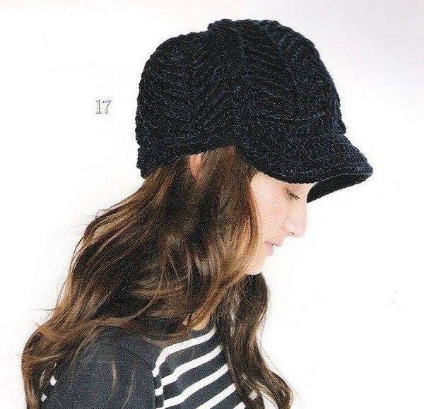 Patrón #639: Gorro con Visera a Crochet #ctejidas http://blgs.co ...