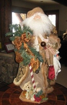 One of a kind hand made Santa. Made to order!