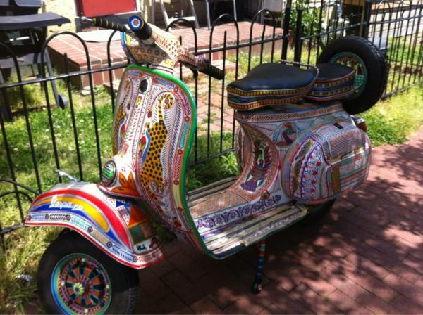 Awesome customized scooter